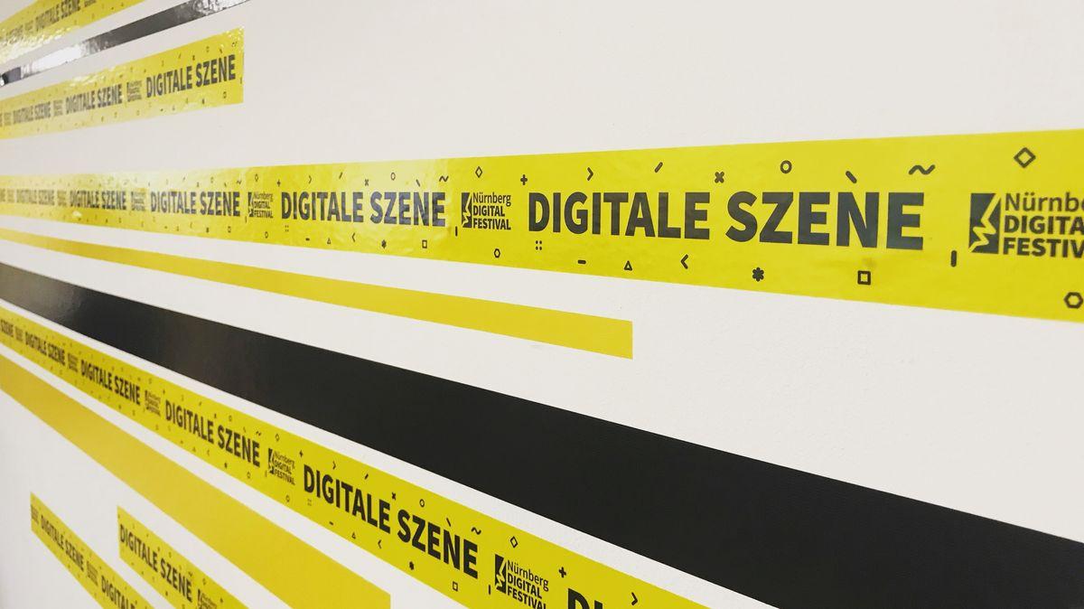Banner mit Aufschrift Nürnberg Digital Festival.