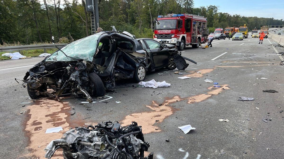 Vier Tote bei Verkehrsunfall auf A5 in Hessen