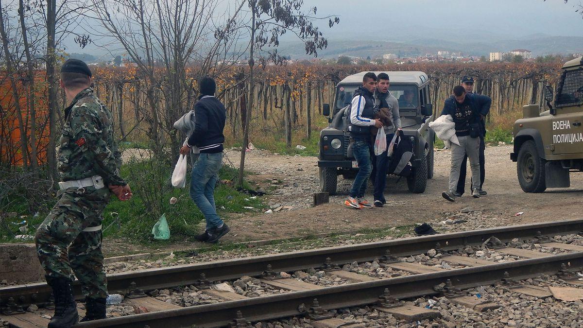 Gevgelija, Grenzübergang für Flüchtlinge (24.11.2015)