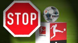 Stopschild und Bundesliga-Logo