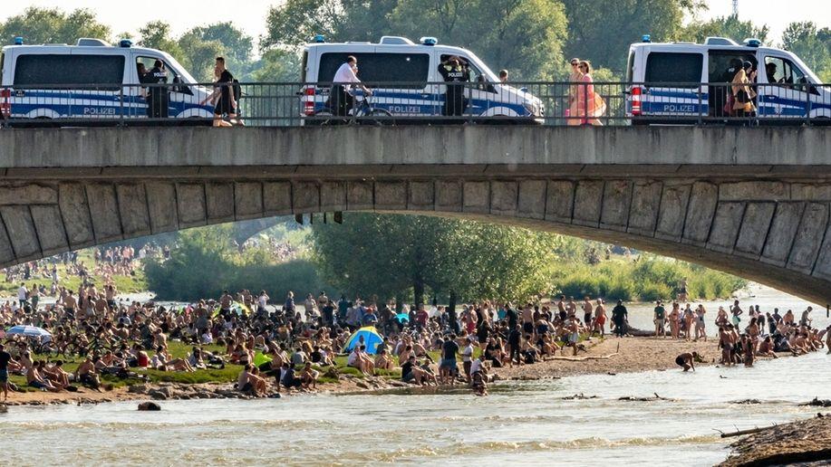 Polizeieinsatz an der Isar
