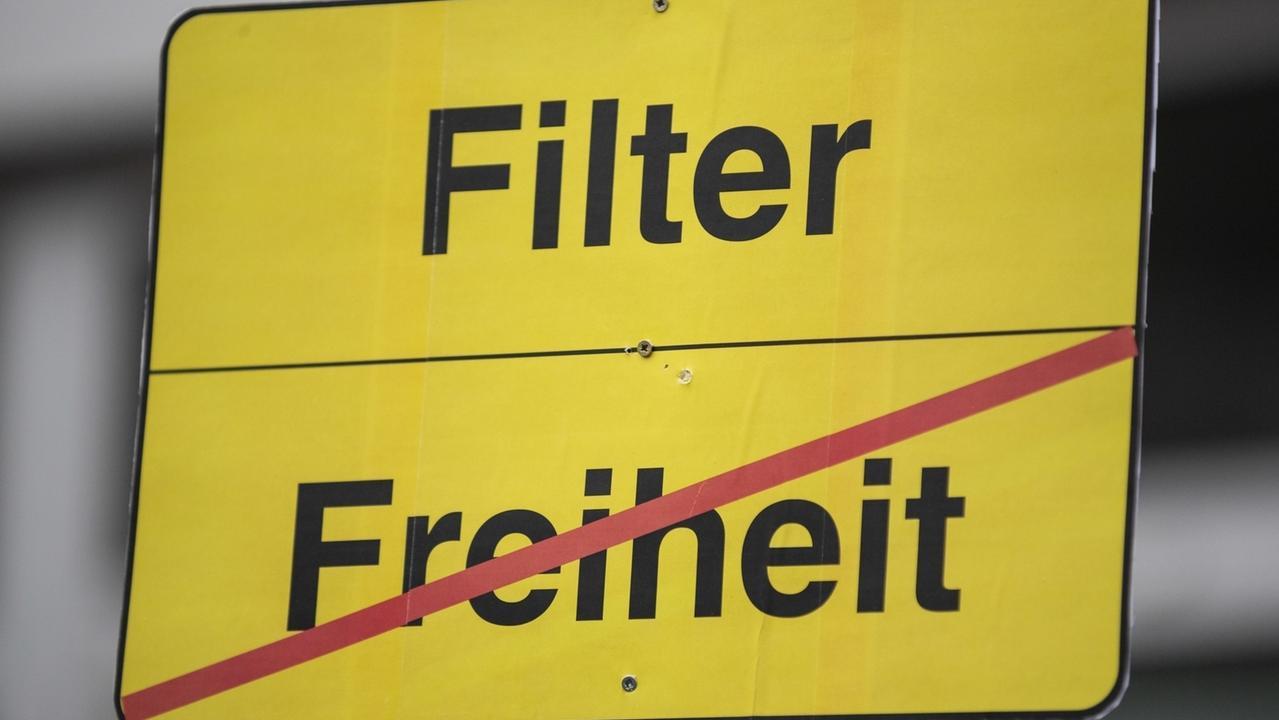 Demo in Berlin gegen Uploadfilter am 2. März 2019.