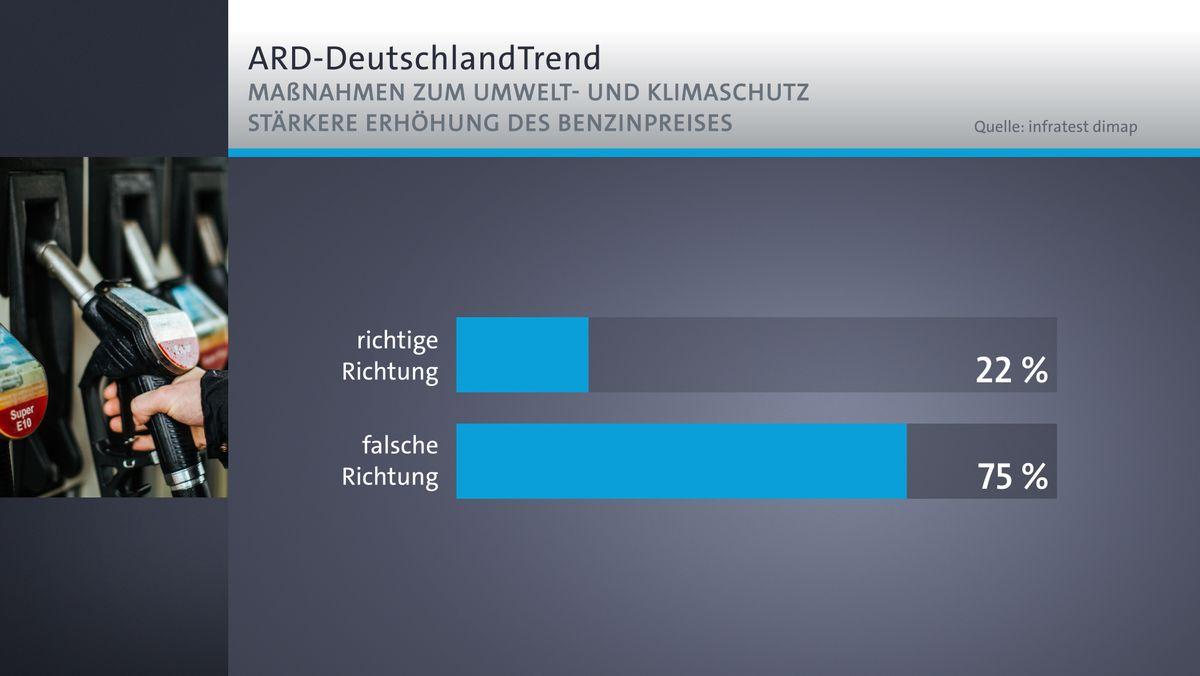 ARD-DeutschlandTrend: Benzinpreis
