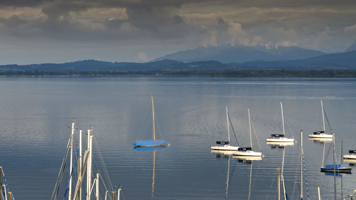 Boote am Chiemsee.