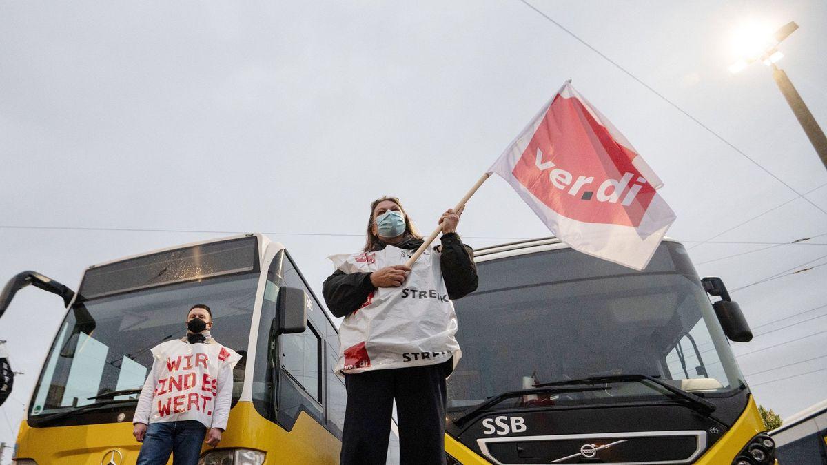 Symbolbild Verdi-Warnstreiks im öffentlichen Nahverkehr