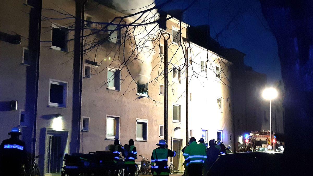 Brand in der Münchner Völckerstraße am 19. Februar 2021.