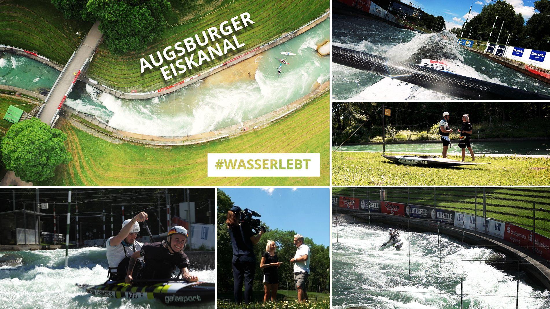 Der Augsburger Eiskanal.
