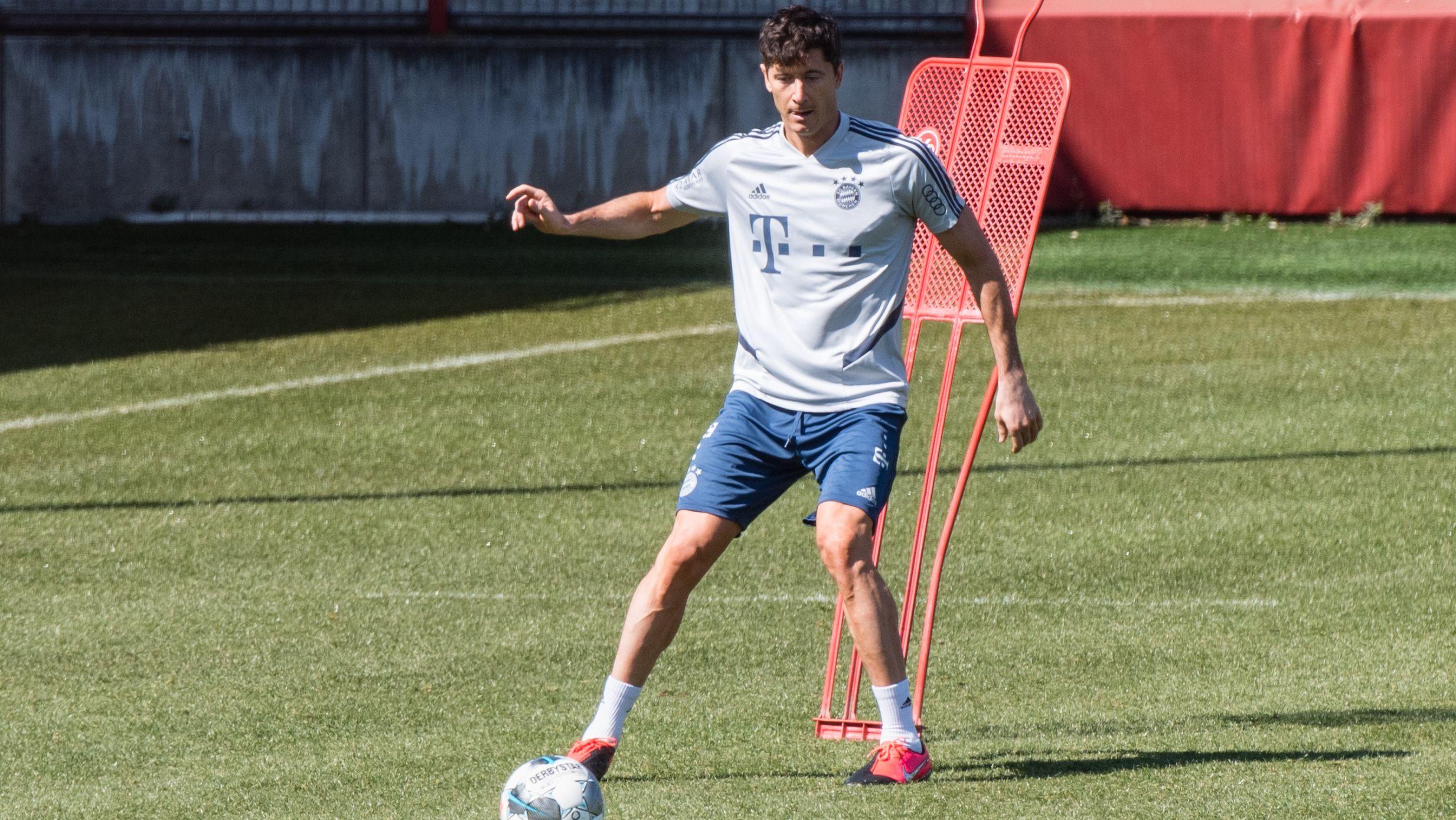 Robert Lewandowski ist wieder im Training