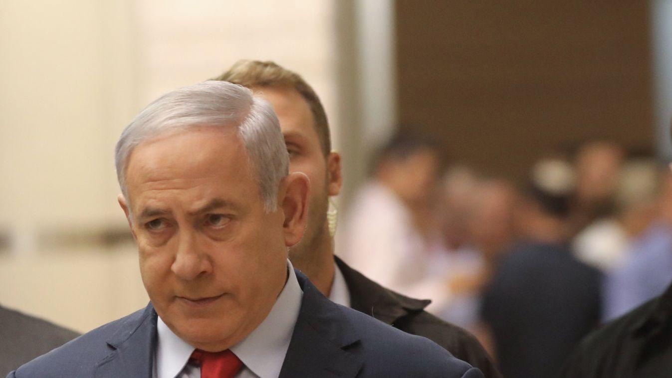 Benjamin Netanjahu, Ministerpräsident von Israel, kommt zu einer Knesset-Sitzung