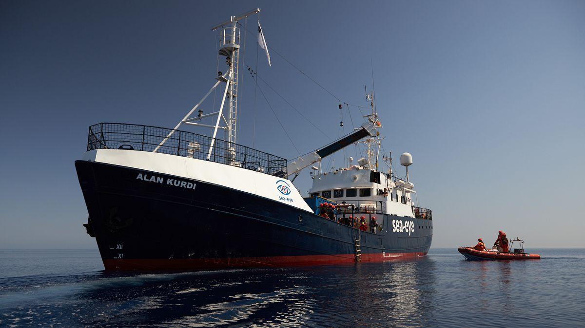 """Das Rettungsschiff """"Alan Kurdi"""" der Regensburger Hilfsorganisation """"Sea-Eye"""""""