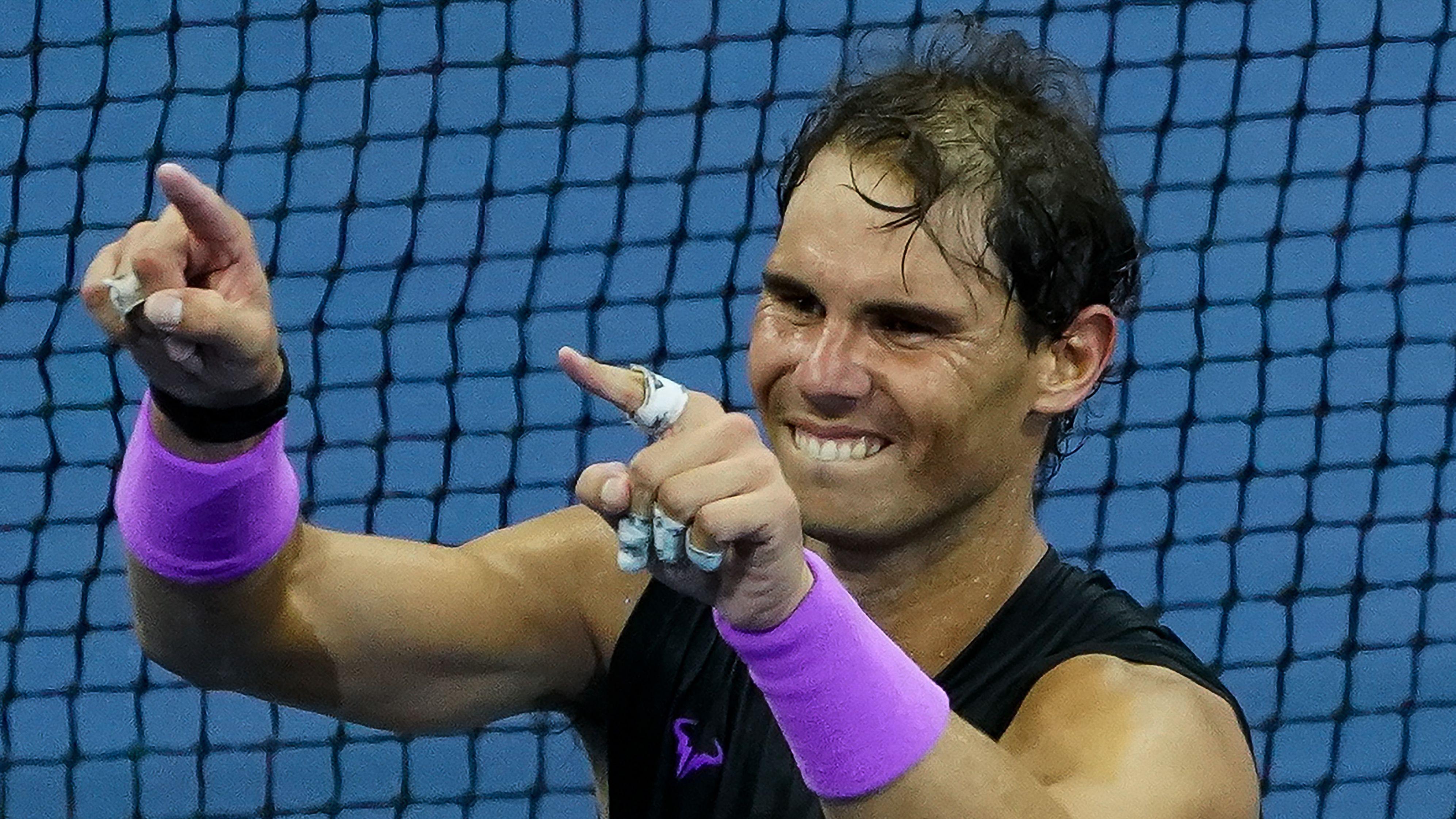 Der Spanier Rafael Nadal gewinnt die US Open 2019