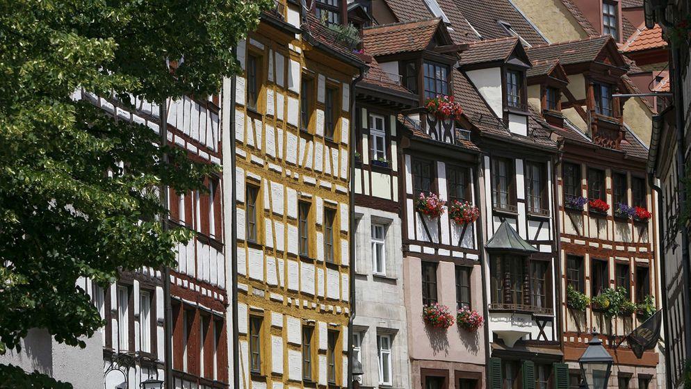 Fachwerkhäuser in der Nürnberger Altstadt | Bild:picture-alliance/ dpa