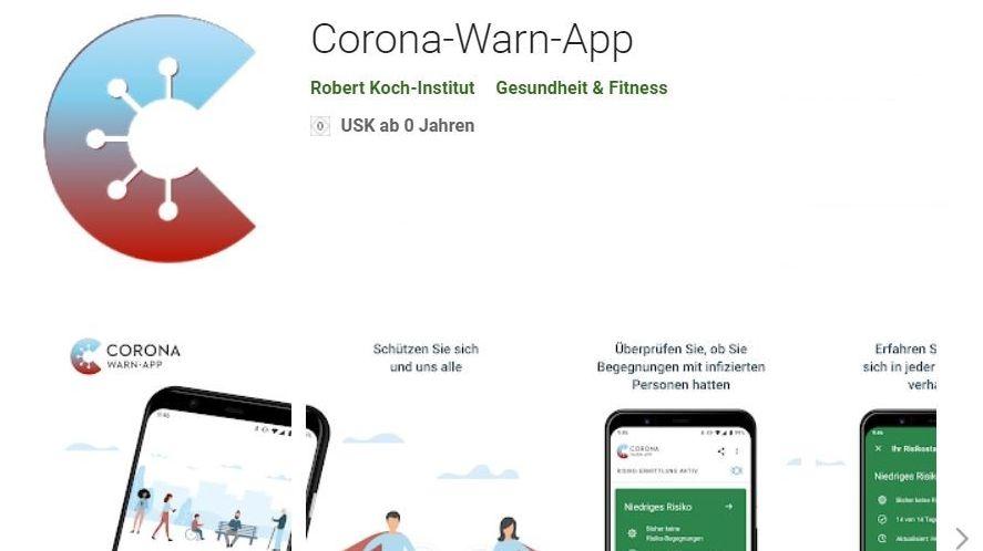 So sieht die Corona-Warn-App aus