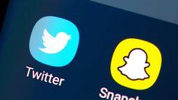 Twitter- und Snapchat-Logo | Bild:Eibner-Pressefoto