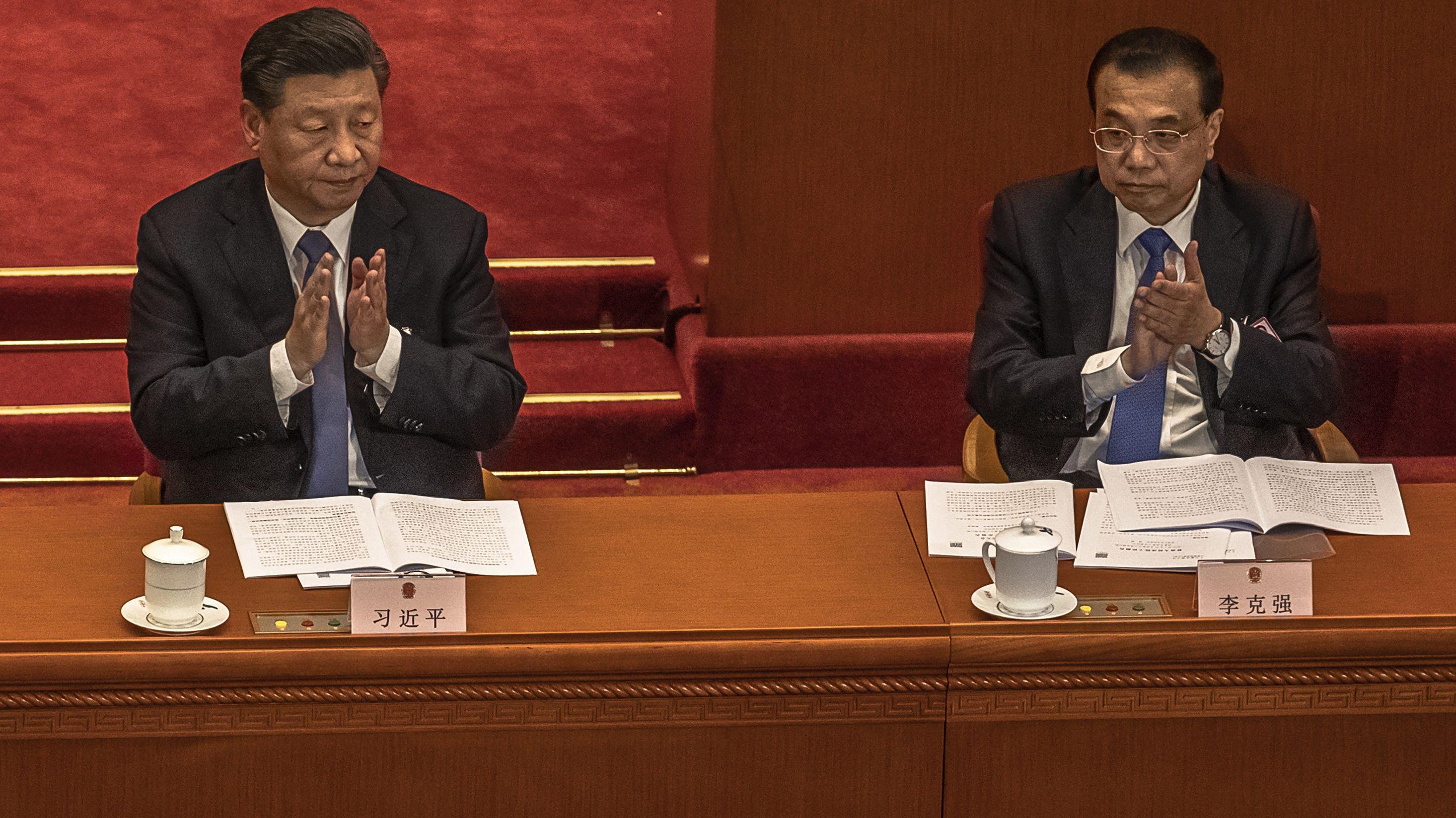 Xi Jinping (l), Staatspräsident von China, und Li Keqiang, Ministerpräsident von China
