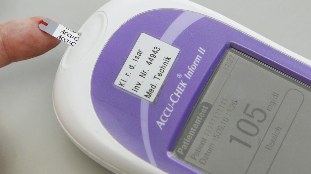 Blutzuckermessgerät bei Diabetes