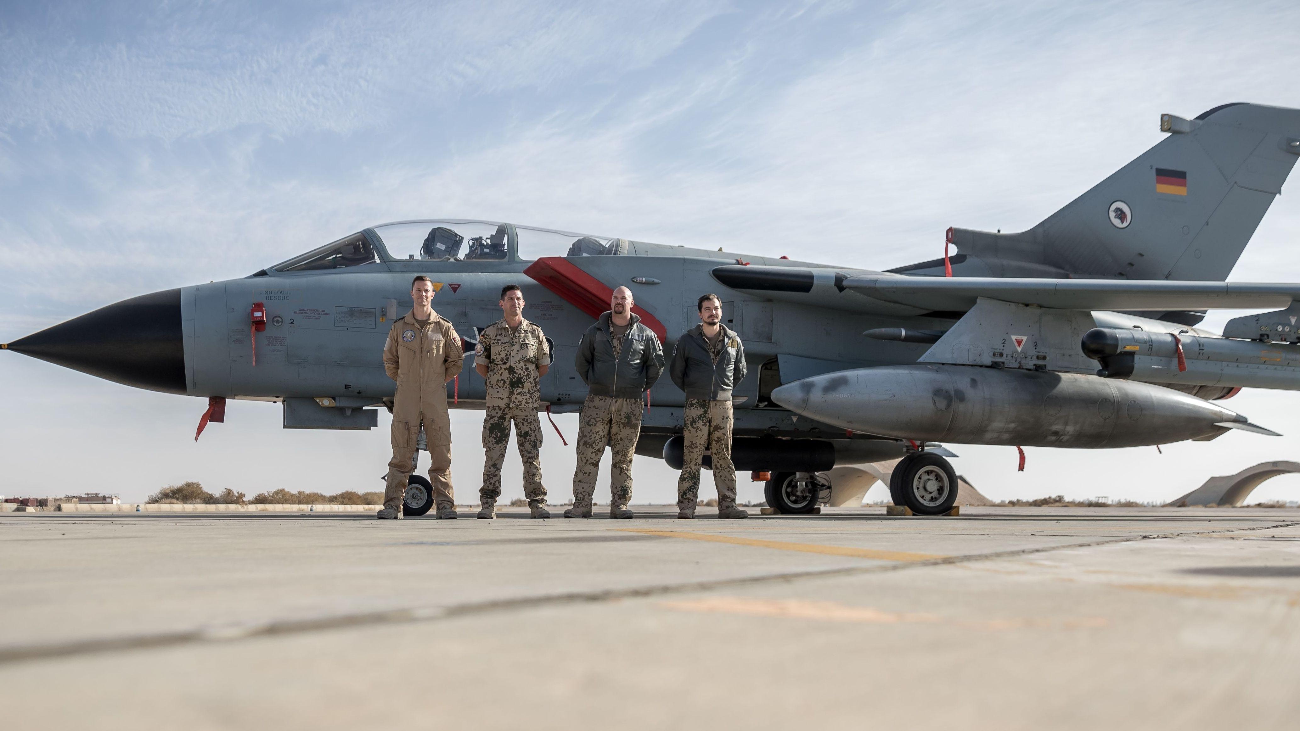 Ein Tornado-Jet der Bundeswehr in Al-Asrak