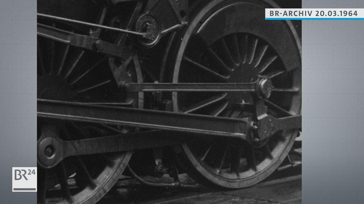 Dampflokomotive nah