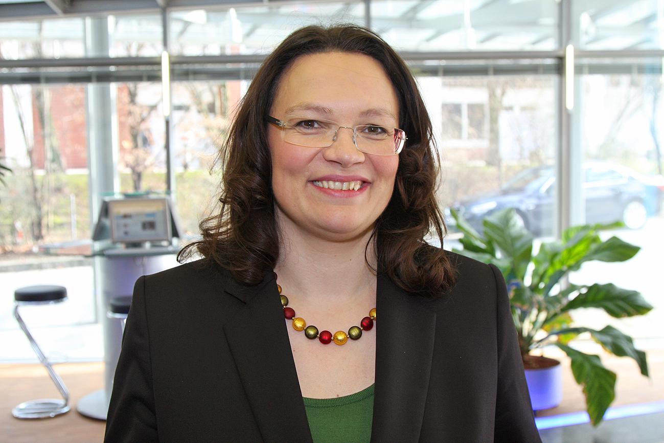 Andrea Nahles wird Sonderberaterin von EU-Sozialkommissar Schmit