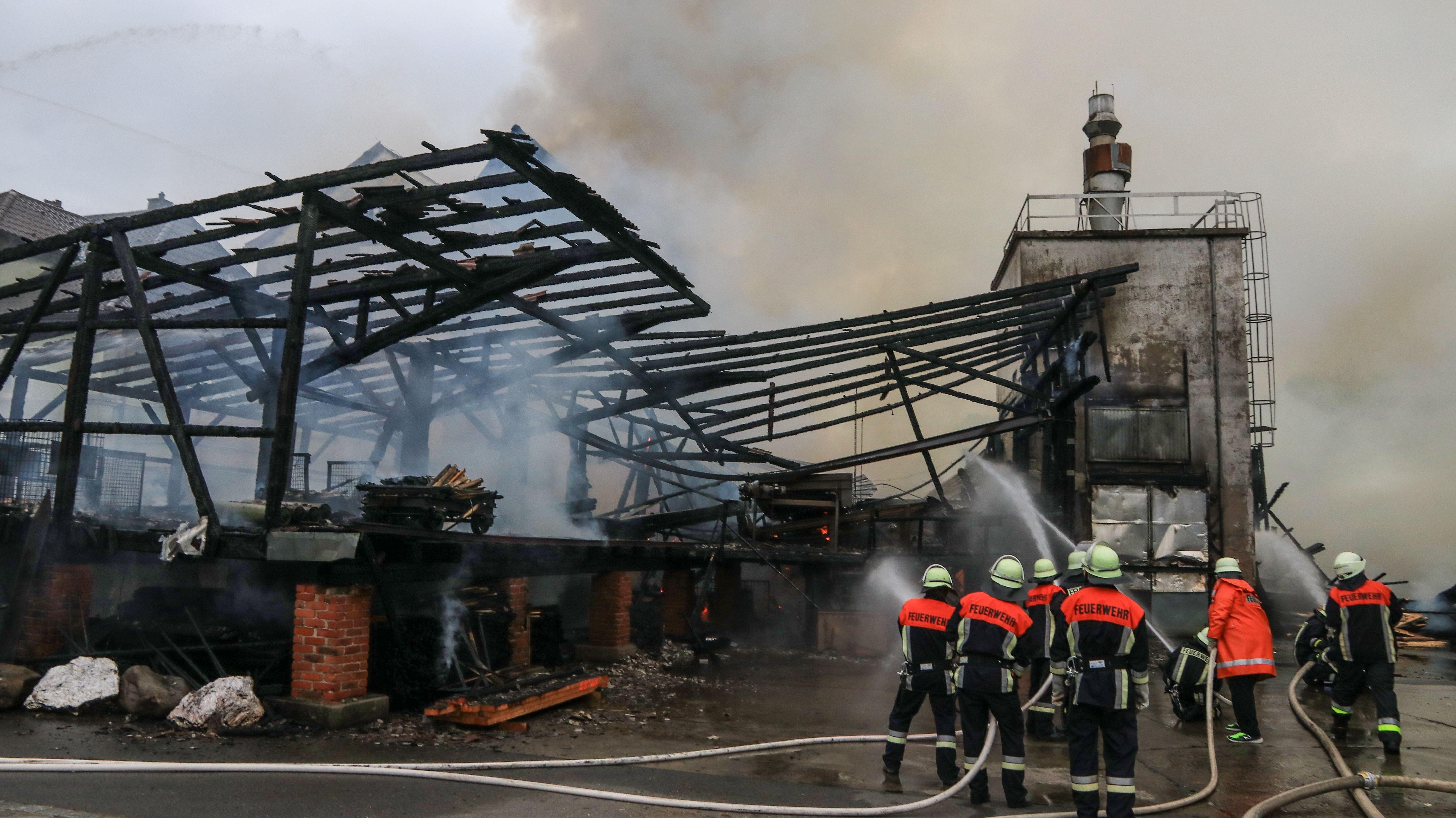 Ausgebranntes Sägewerk in Höfles (Kronach)