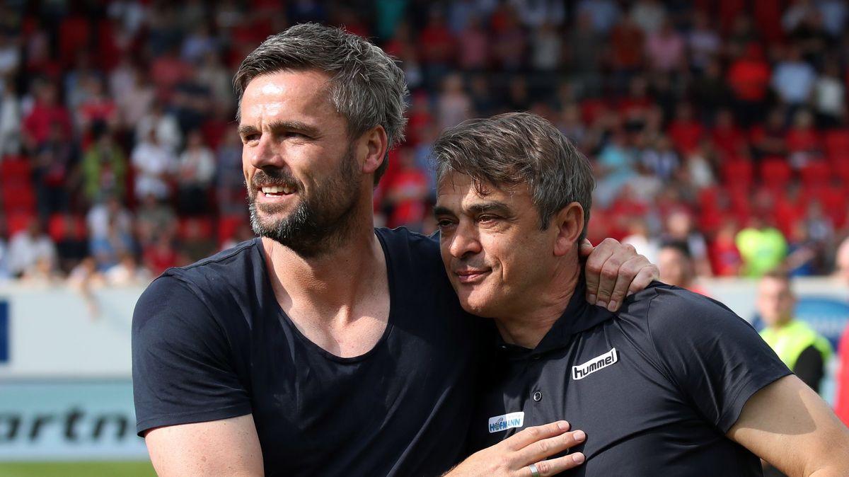 Martin Meichelbeck (l.) mit Fürths Ex-Trainer Damir Buric