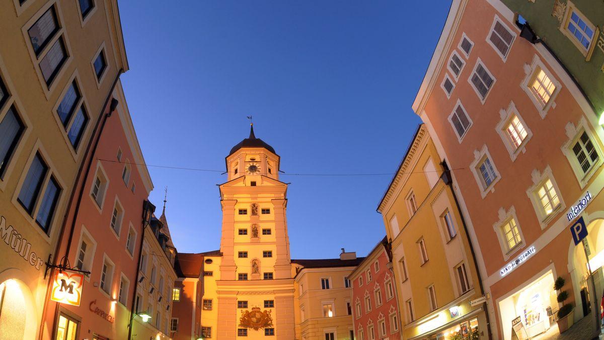 Der Stadtplatz von Vilshofen an der Donau