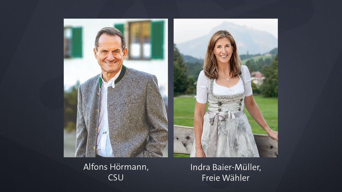 Der CSU-Politiker Alfons Hörmann und Indra Baier-Müller von den Freien Wählern.