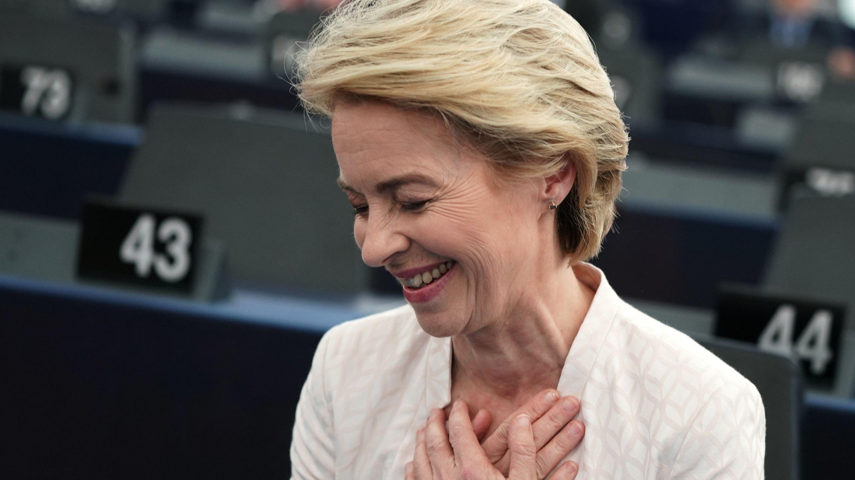 Ursula von der Leyen zeigt sich nach der Wahl erleichtert