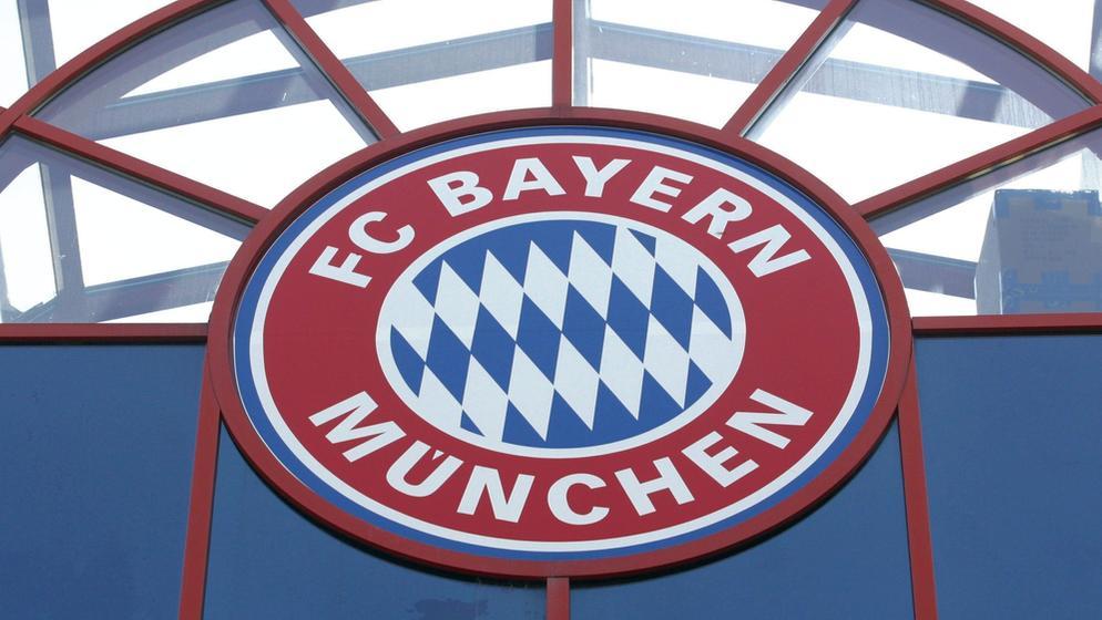 Logo des FC Bayern München an der Geschäftsstelle | Bild:picture-alliance/dpa