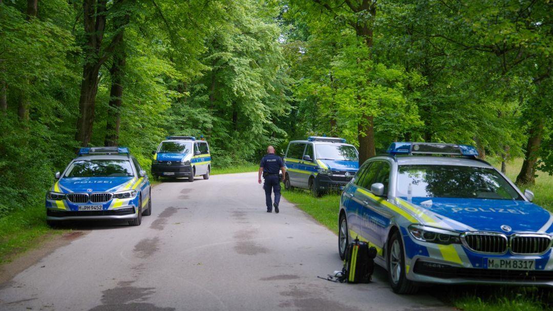 Polizeieinsatz im Englischen Garten in München