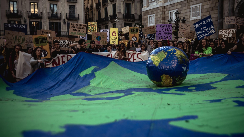 In Spanien sind Madrid und Barcelona (Bild) die Zentren des Protests.