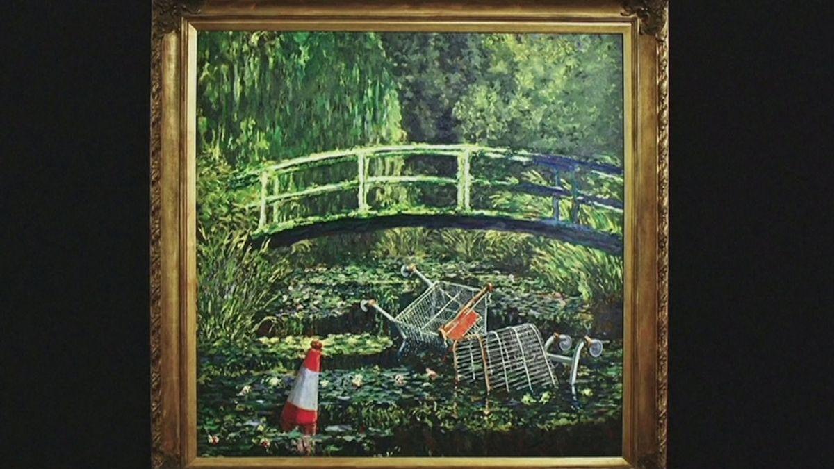 Banksys Interpretation eines klassischen Monet-Gemäldes wurde bei Sotheby´s für 8,4 Millionen Euro verkauft.