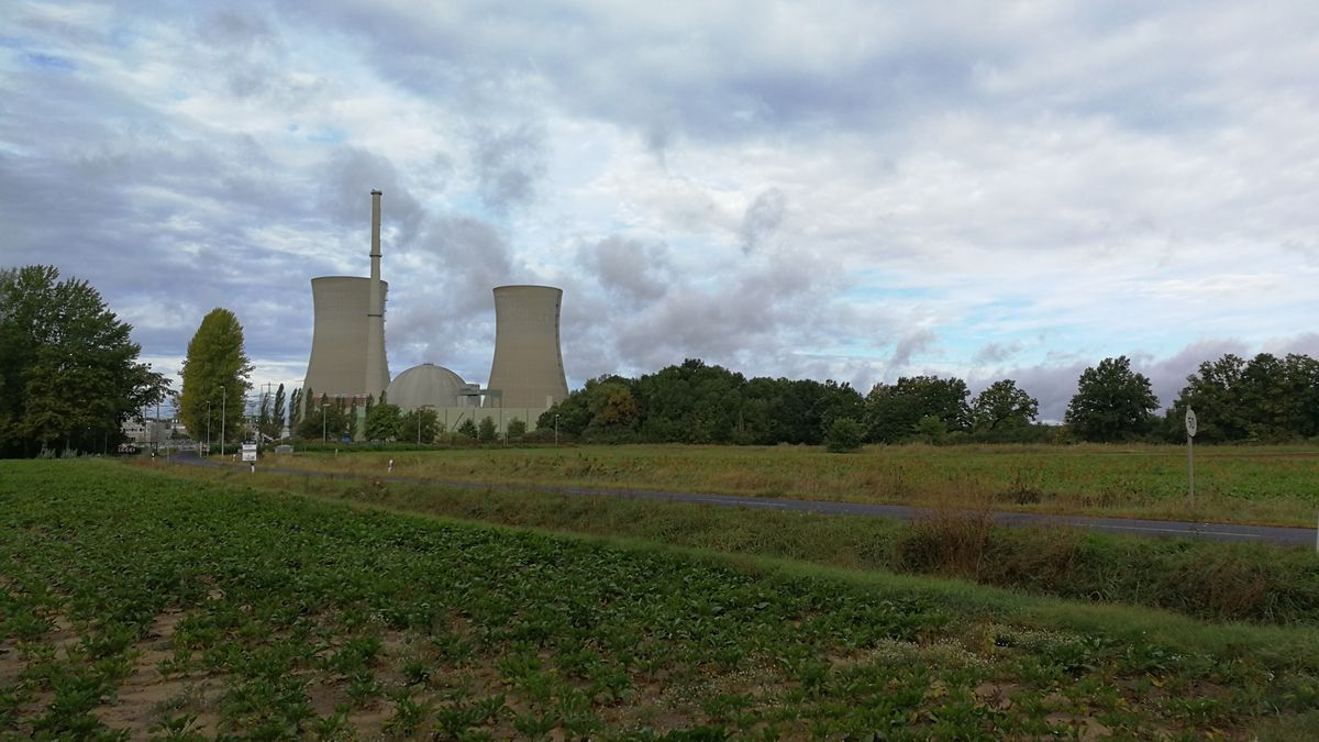 Kernkraftwerk in Grafenrheinfeld im Landkreis Schweinfurt