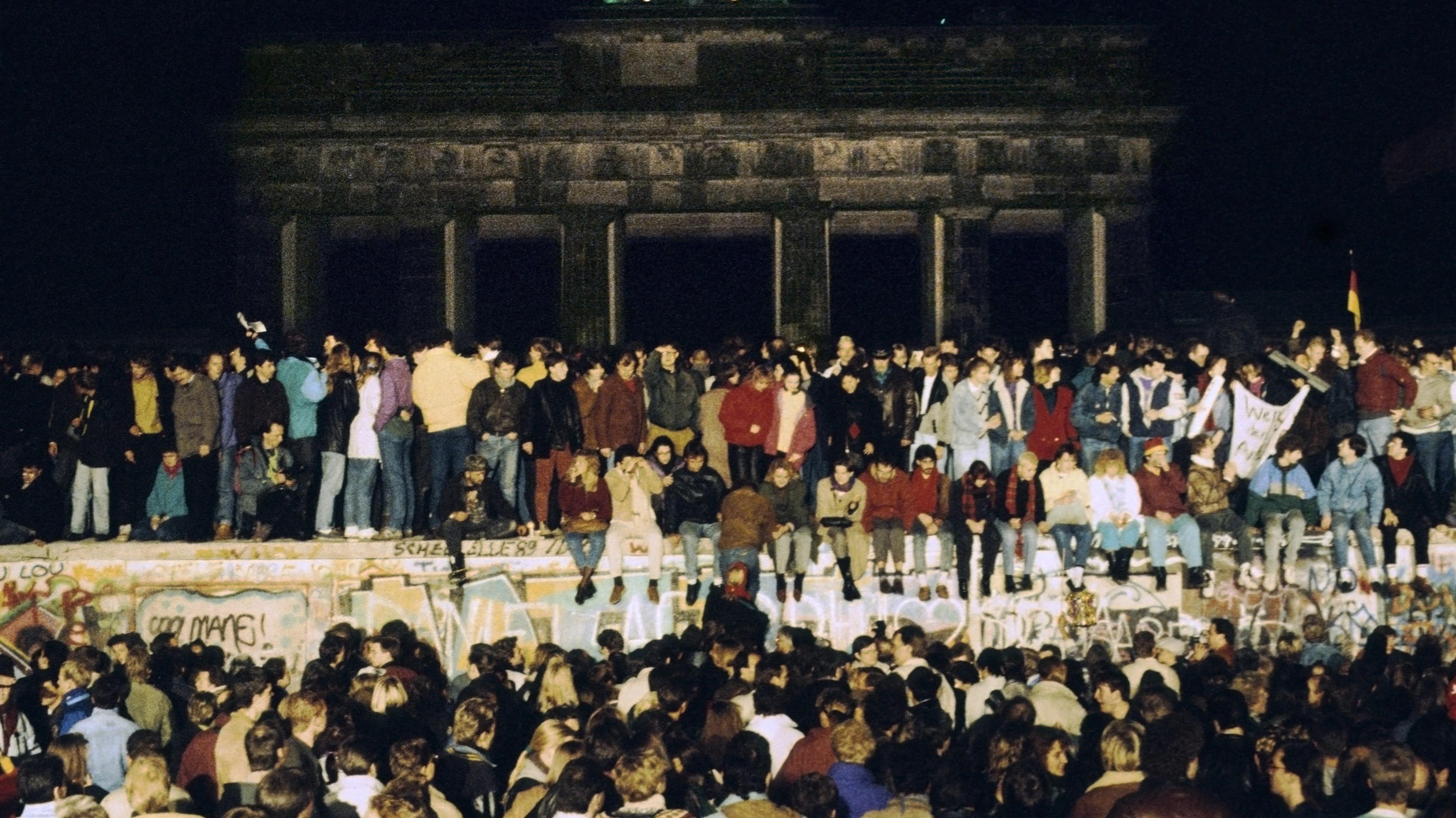 Die Nacht des 9. November 1989 in Berlin