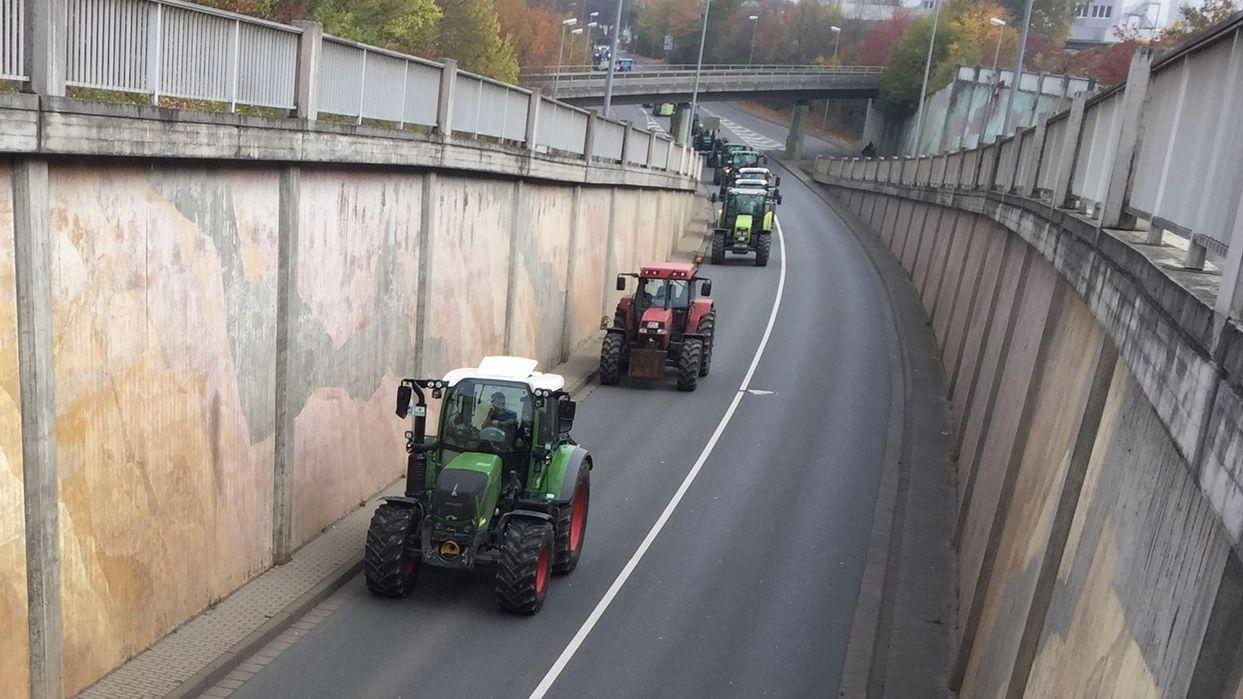 800 Landwirte bei Bauerndemo in Bayreuth