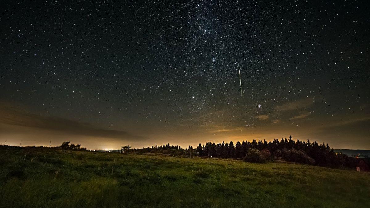 Sternschnuppe in der Rhön