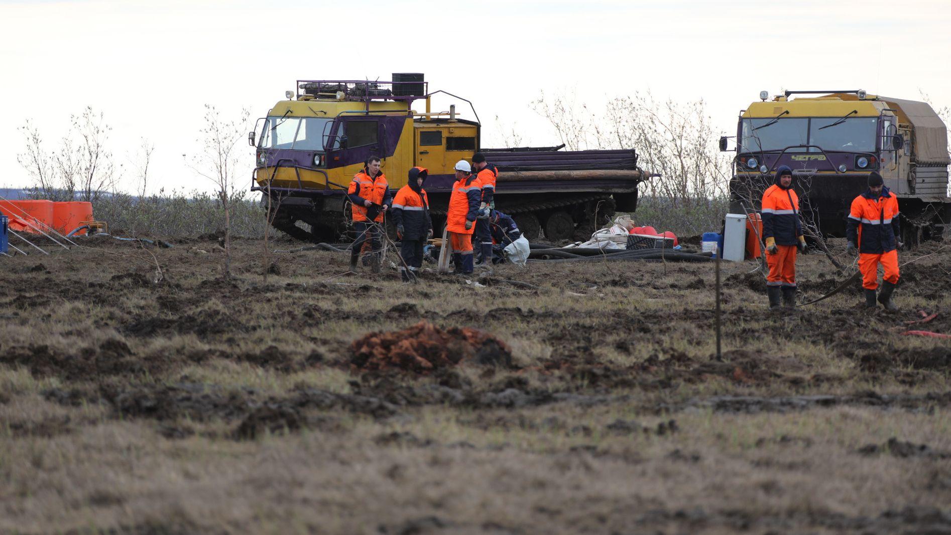 Rund 20.000 Liter Öl sind in Sibirien ausgelaufen.