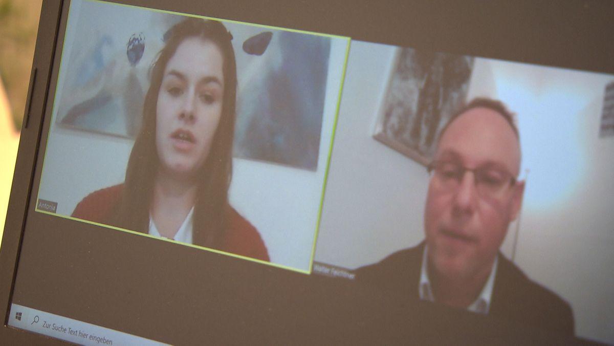 Vorstellungsgespräch per Videokonferenz.