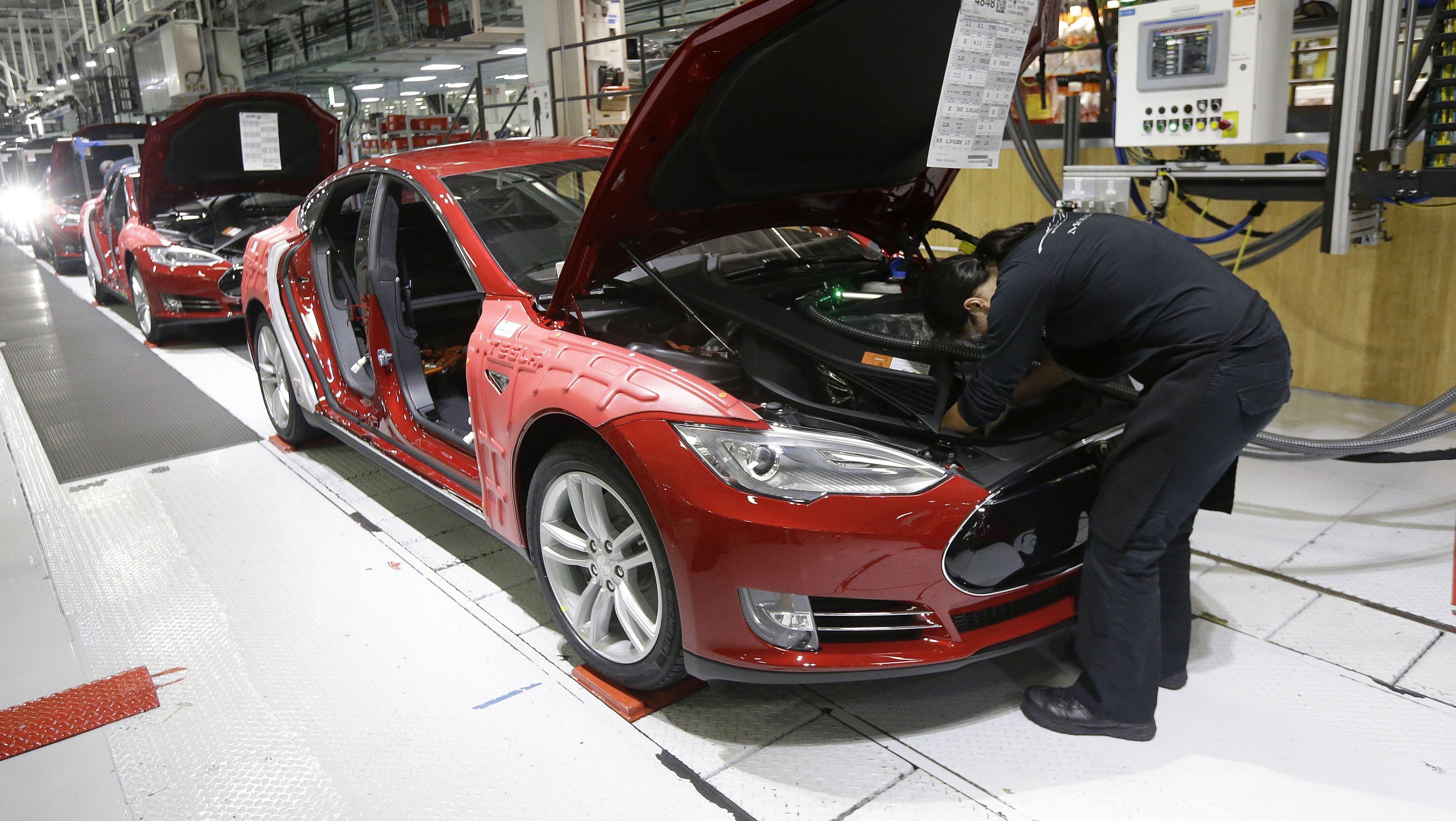 Tesla-Fertigung in Fremont, Kalifornien