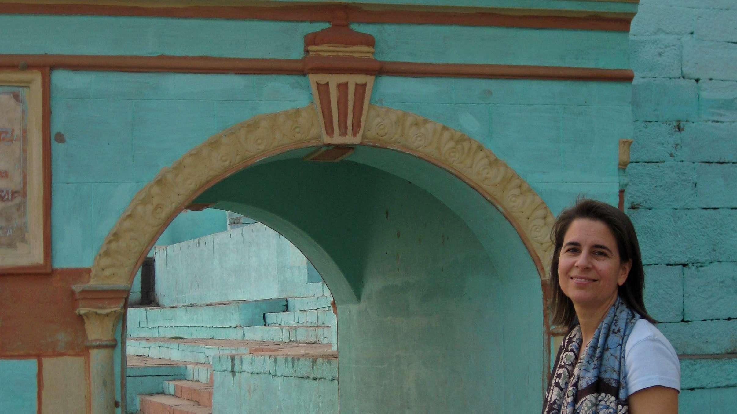 Dr. med. Annette Müller-Leisgang 2008 in Indien