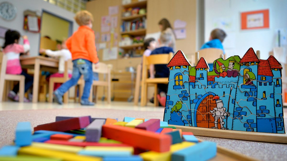 Kinder in einem Kindergarten