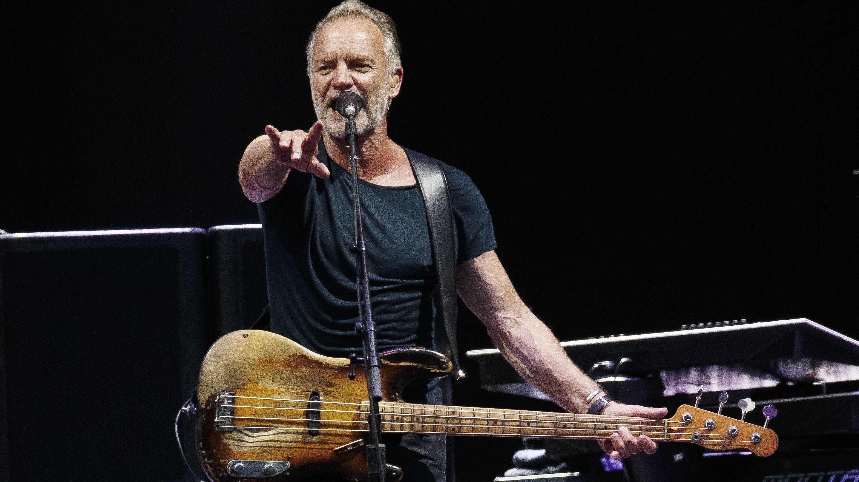 """04.07.2019, Österreich, Graz: Der Britische Sänger Sting performt während seiner """"My Songs""""-Tour"""