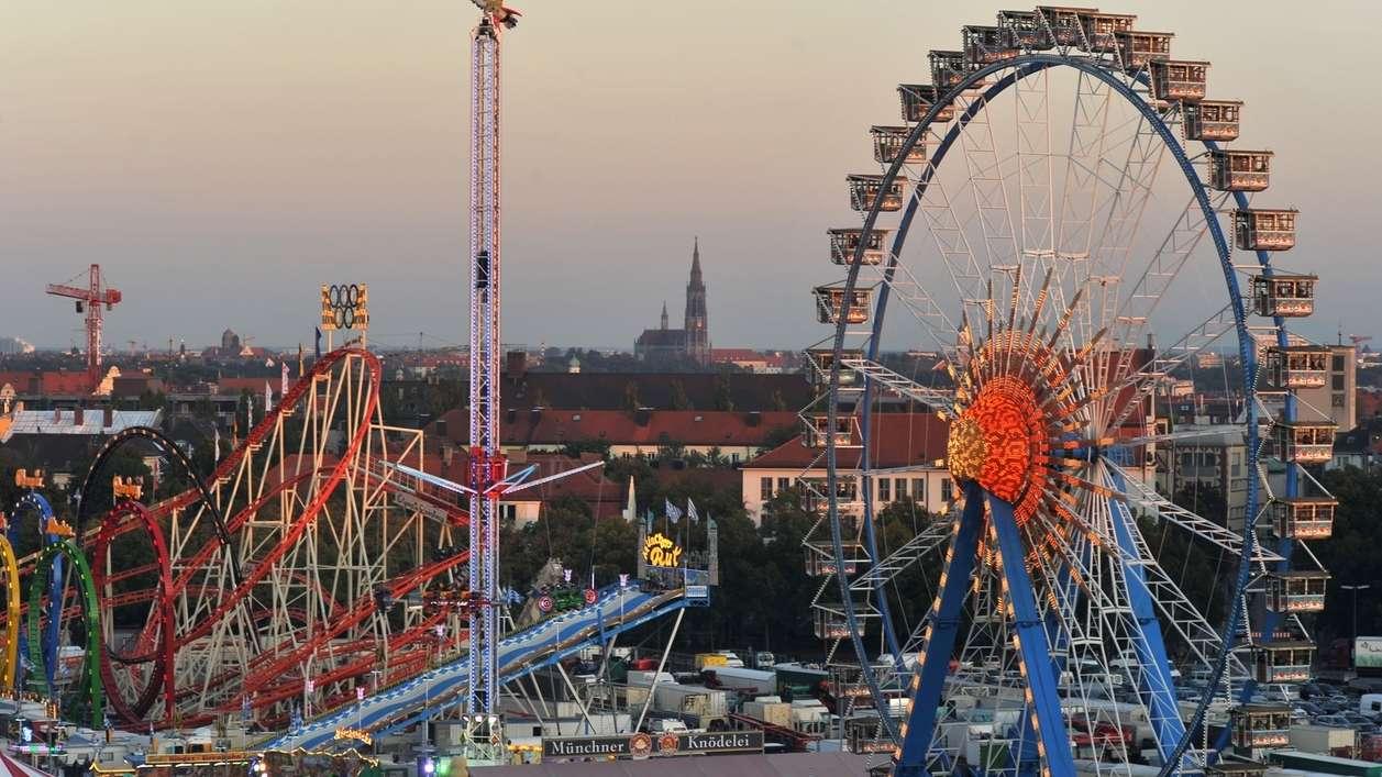Blick aufs Münchner Oktoberfest