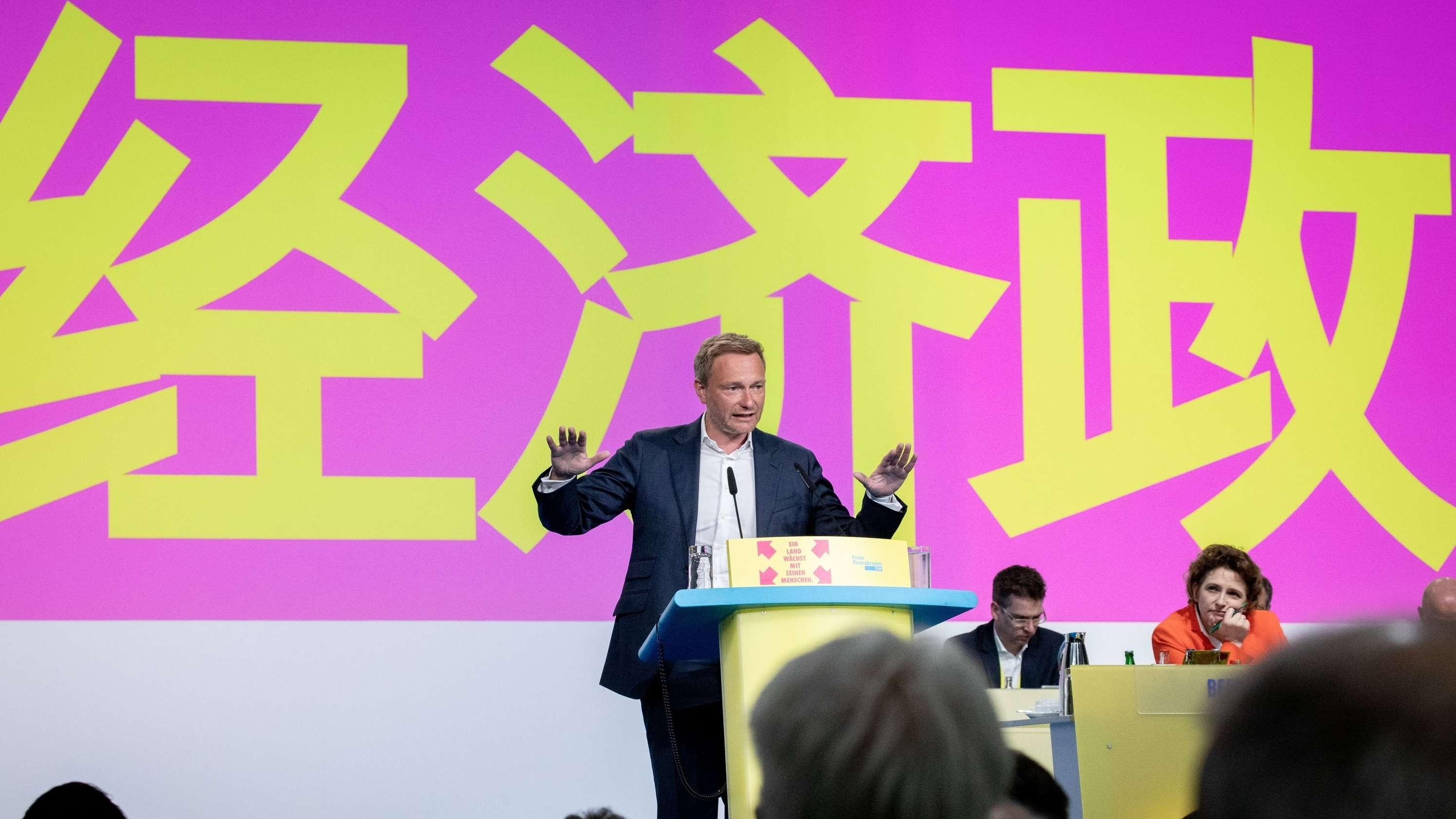 Christian Lindner auf dem FDP-Parteitag