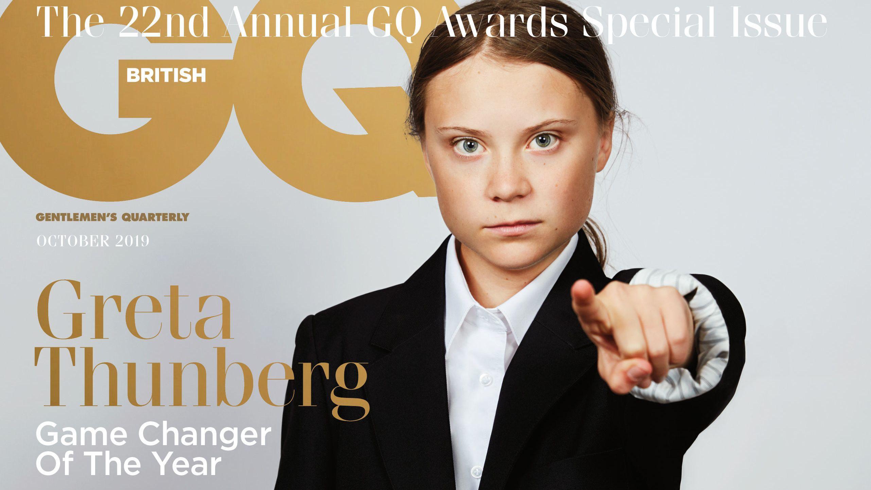 Cover der Oktober-Ausgabe des GQ-Magazins mit Greta Thunberg