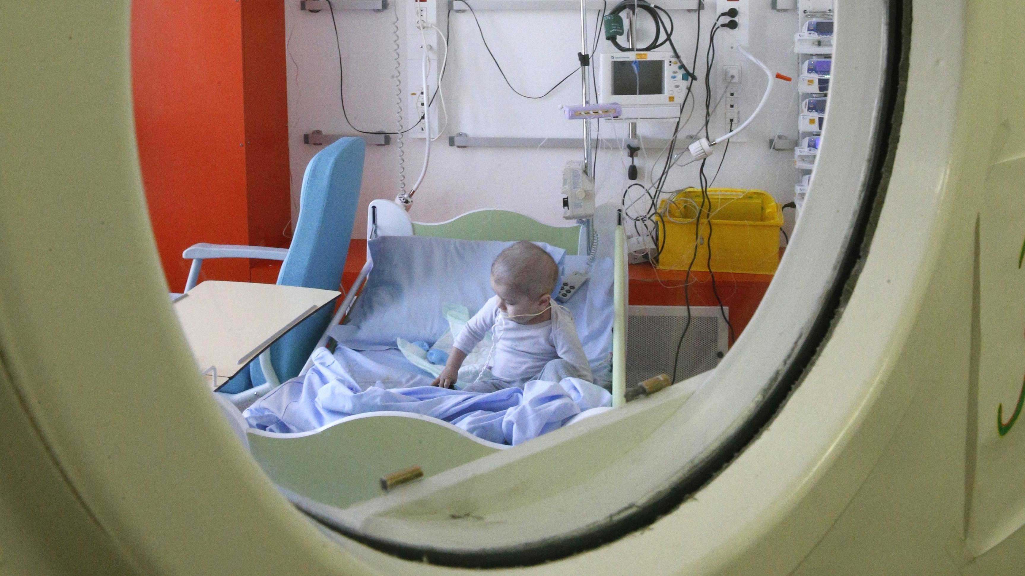 Sterilraum einer Kinderkrebsstation