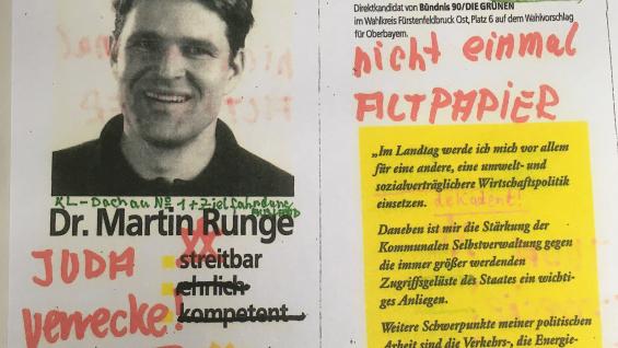 Anonyme Schreiben an Martin Runge