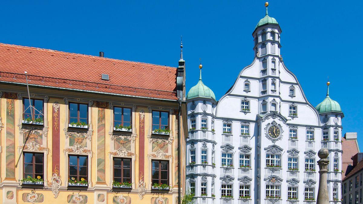 Steuerhaus und Rathaus in Memmingen