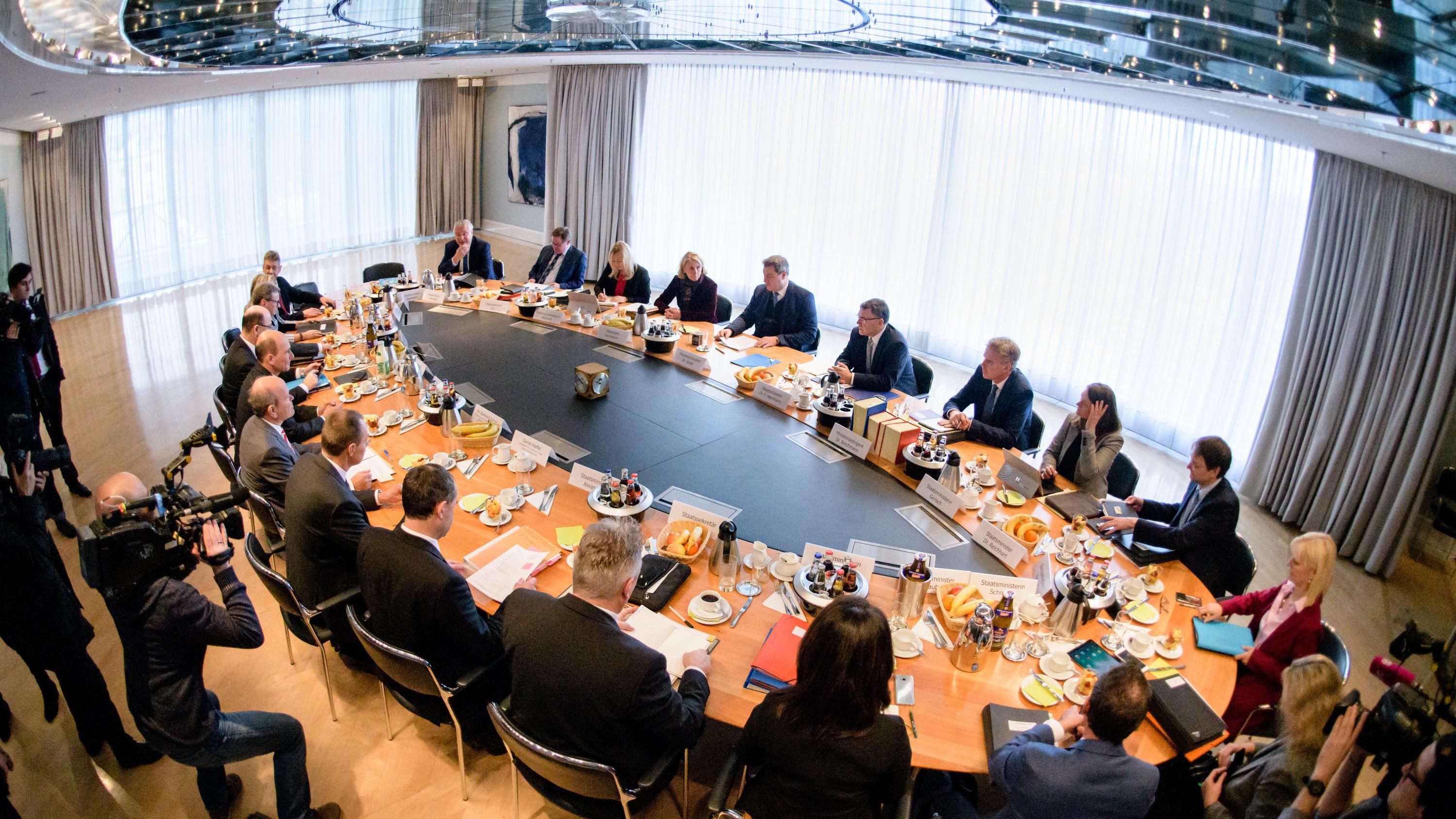 8.1.2019: Kabinettssitzung in der Bayerischen Staatskanzlei