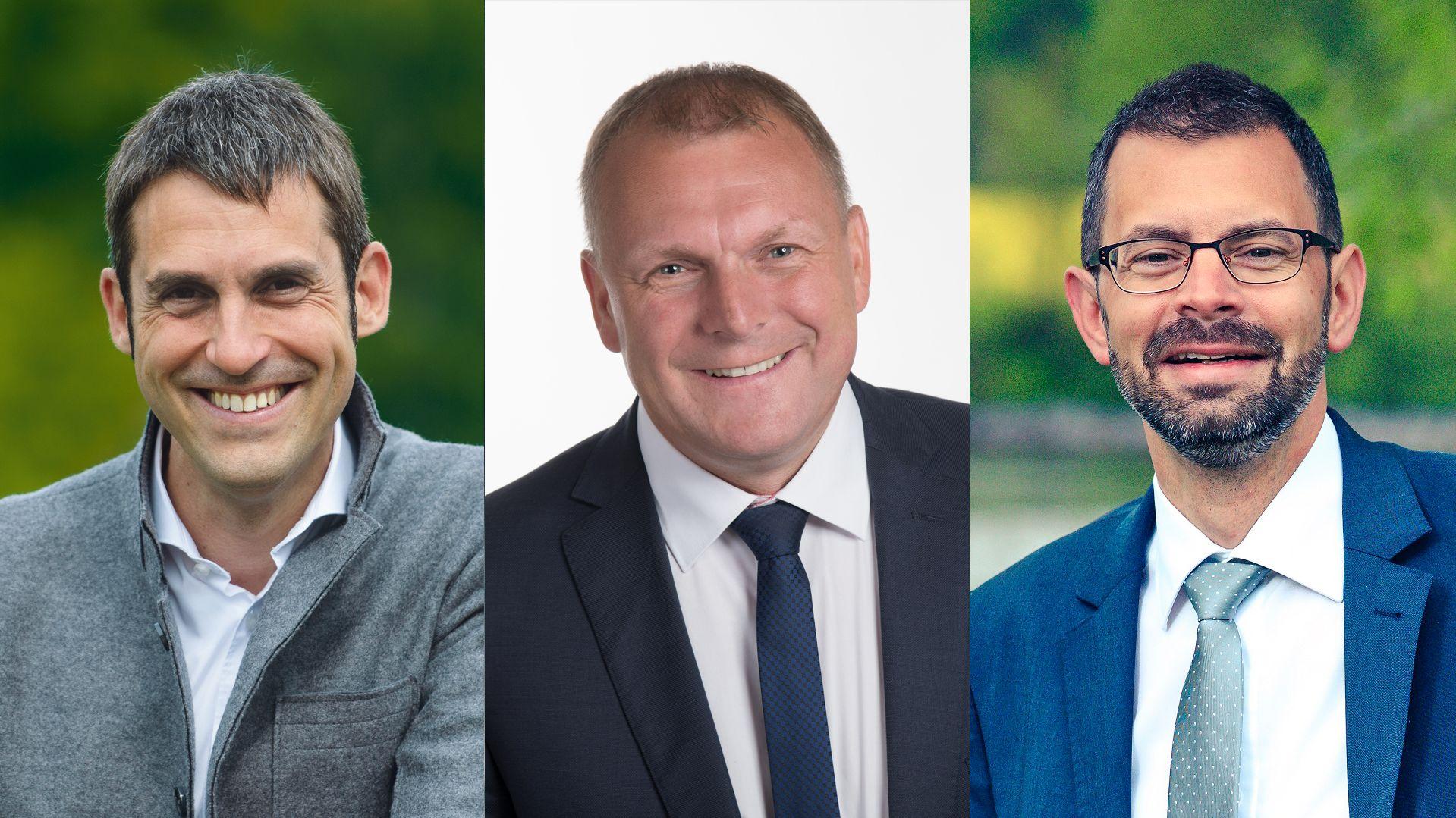 v.l.: Aschaffenburgs Landrat Alexander Legler, Würzburgs Landrat Thomas Eberth, Miltenbergs Landrat Jens Marco Scherf